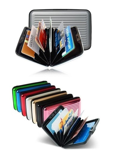 Practika Alüminyum Kredi Kartlık Cüzdan Renkli